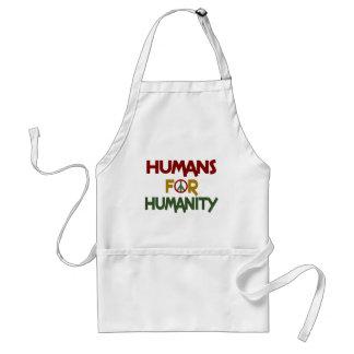 Seres humanos para el personalizado de la humanida delantal