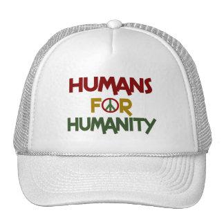 Seres humanos para el personalizado de la humanida gorras de camionero