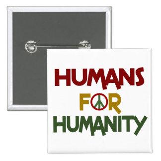Seres humanos para el personalizado de la humanida pin