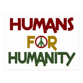 Seres humanos para el personalizado de la humanida postales