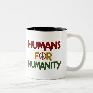 Seres humanos para el personalizado de la taza dos tonos