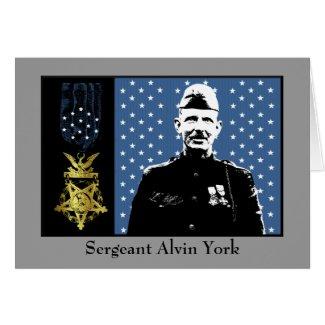 Sergeant Alvin York - Medal of Honor Winner card
