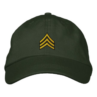 Sergeant Embroidered Baseball Caps