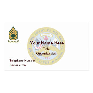 Sergeant First Class Retired Business Card