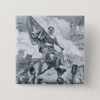 Sergeant Jasper at the Battle of Fort Moultrie Pinback Button