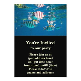 "Sergeant Major Fish 5"" X 7"" Invitation Card"