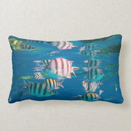 Sergeant Major Fish Throw Pillows