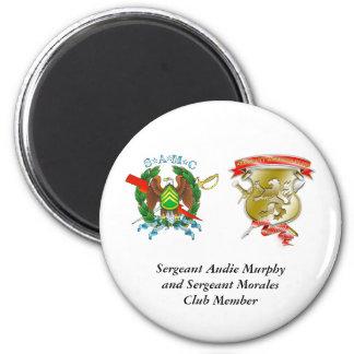 Sergeant-Morales-Club-Shiel, CREST[1], Fort Lea... 2 Inch Round Magnet