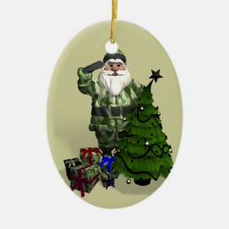 Sergeant Santa Claus Christmas Tree Ornament