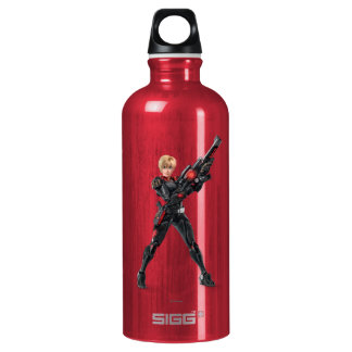 Sergeant Tammy Calhoun with Guh Aluminum Water Bottle