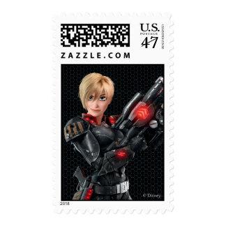 Sergeant Tammy Calhoun with Gun Postage Stamp
