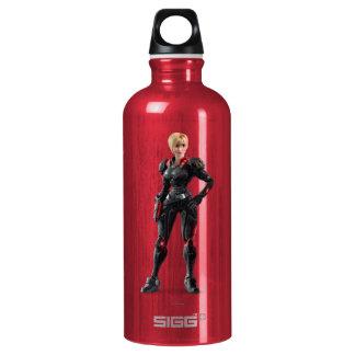 Sergeant Tammy Calhoun with Hand on Hip Aluminum Water Bottle