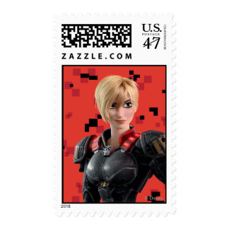 Sergeant Tammy Calhoun with Hand on Hip Postage Stamp