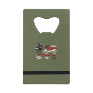 Sergeant USA Military Army Green American SGT Credit Card Bottle Opener