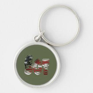 Sergeant USA Military Army Green American SGT Keychain