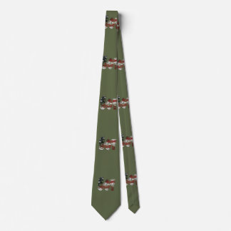 Sergeant USA Military Army Green American SGT Neck Tie