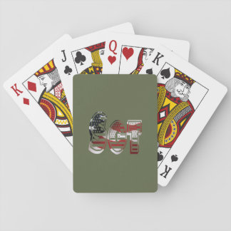 Sergeant USA Military Army Green American SGT Playing Cards