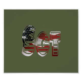 Sergeant USA Military Army Green American SGT Poster