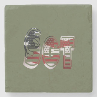 Sergeant USA Military Army Green American SGT Stone Coaster