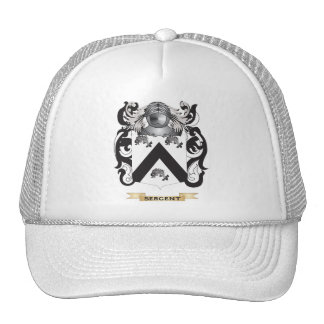 Sergent Coat of Arms Family Crest Hats