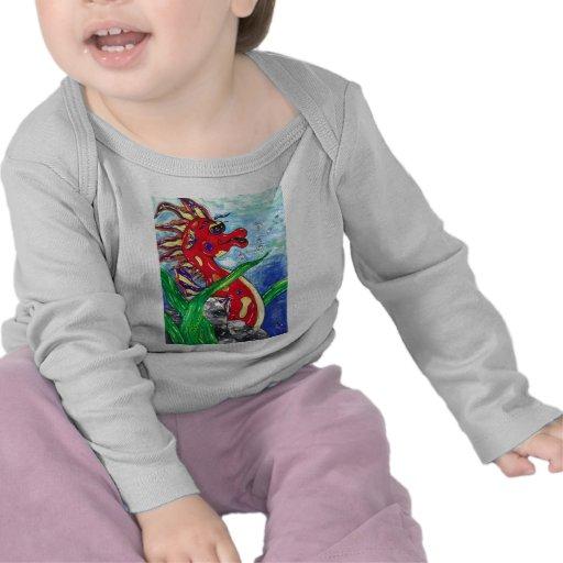 Sergio the Sea Horse infant long sleeve Tee Shirt