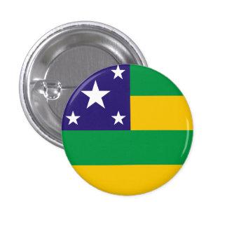 Sergipe, botón brasileño de la bandera del estado pin redondo de 1 pulgada