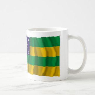 Sergipe & Brazil Waving Flags Coffee Mugs