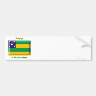 Sergipe Flag Gem Car Bumper Sticker