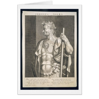 Sergius Galba Emperor of Rome 68 AD engraved by Ae Greeting Cards