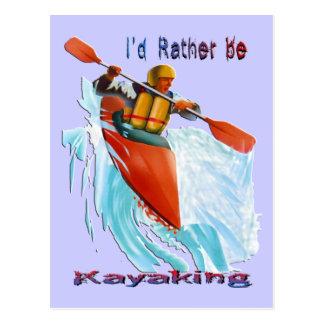 Sería bastante 2 Kayaking Tarjeta Postal