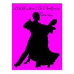 Sería bastante baile de salón de baile tarjetas postales