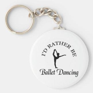 Sería bastante baile del ballet llaveros personalizados