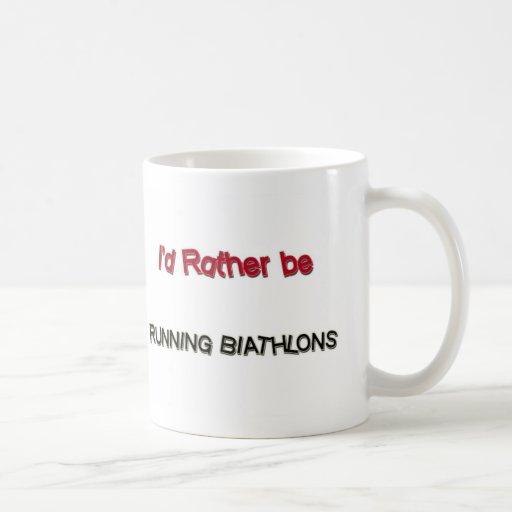 Sería bastante Biathlons corrientes Tazas