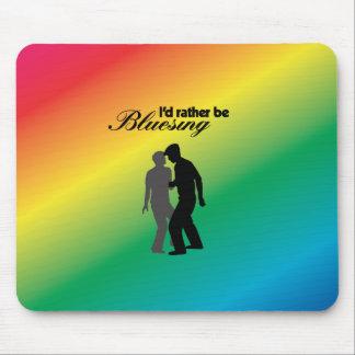 Sería bastante Bluesing con el fondo del arco iris Alfombrillas De Raton