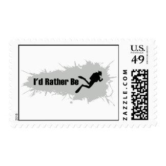 Sería bastante buceo con escafandra sello postal