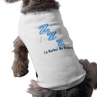 Sería bastante camiseta del perro el dormir playera sin mangas para perro