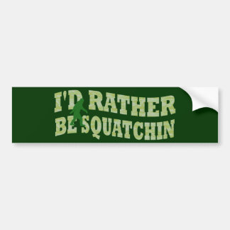 Sería bastante camo verde de Squatchin Etiqueta De Parachoque