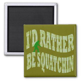 Sería bastante camo verde de Squatchin Imán Cuadrado