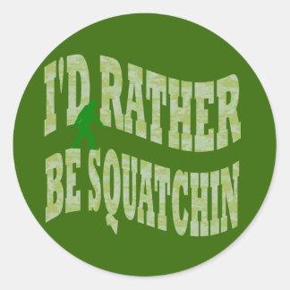 Sería bastante camo verde de Squatchin Etiqueta Redonda
