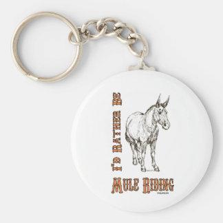 Sería bastante diseño del montar a caballo de la m llavero redondo tipo pin