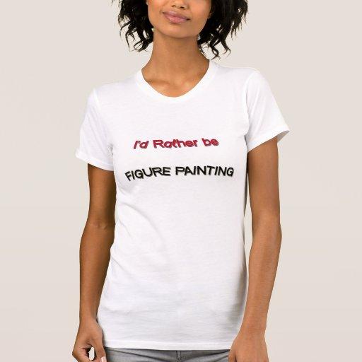 Sería bastante figura pintura camiseta