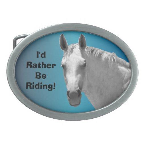 Sería bastante hebilla del cinturón del caballo de hebillas de cinturon ovales
