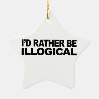 Sería bastante ilógico adorno de cerámica en forma de estrella