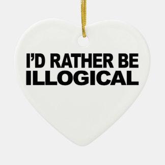 Sería bastante ilógico adorno de cerámica en forma de corazón