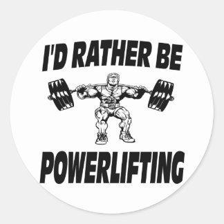 Sería bastante levantamiento de pesas de Powerlift Etiquetas