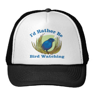 Sería bastante observación de pájaros gorra