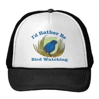 Sería bastante observación de pájaros gorras de camionero
