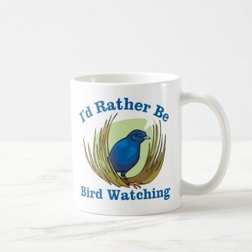Sería bastante observación de pájaros taza