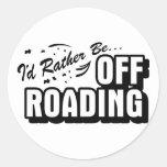Sería bastante Off-Roading Etiquetas Redondas