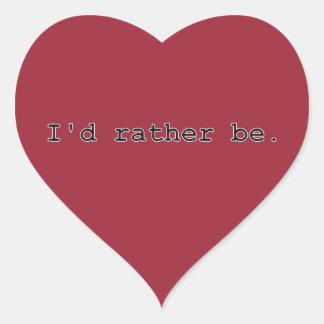 Sería bastante pegatina en forma de corazón